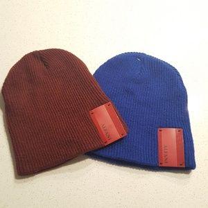 Alfani Set of 2 Mens Beanie Skull Cap Hat One Size
